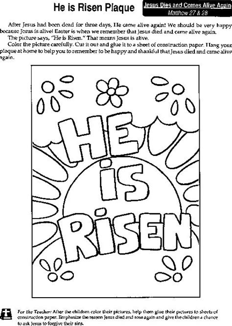 he is risen coloring page quot he is risen quot coloring page he is risen