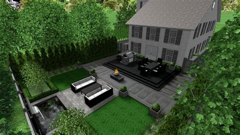 Green Apple Landscape Design Modern Formal Elegance Backyard 3d Landscape Design Yelp