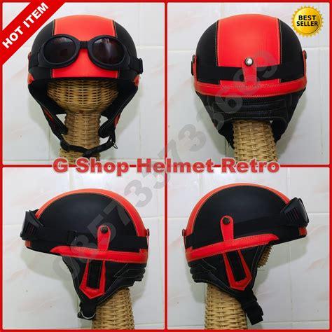 Helm Anak Retro Karakter Merah jual helm retro jadul chips merah vespa cb ulung gshophelmetretro