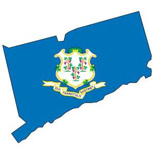 vector map and flag of connecticut   download at vectorportal