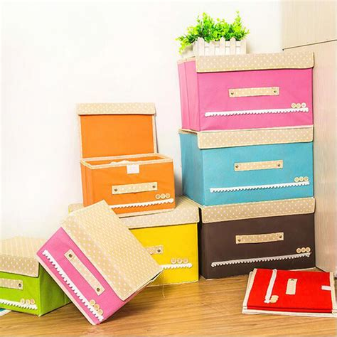 folding lovel pattern cloth storage boxes nonwoven fabric