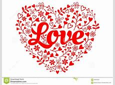 Love Red Flower Heart, Vector Stock Vector - Image: 65620253 Free Clipart Of Valentine's Day