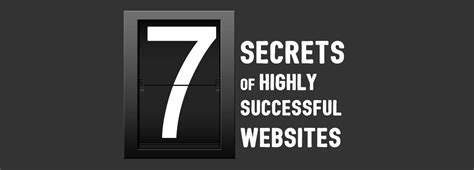 7 Secrets Of Successful by The 7 Secrets Of Highly Successful Websites Design