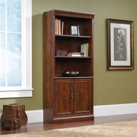 Library Bookcase With Doors Arbor Gate Library Bookcase With Doors Modern Bookcases