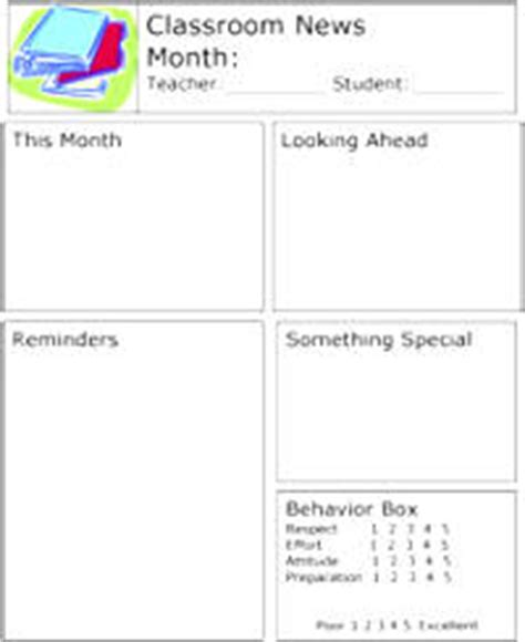 classroom newsletter template free design woodworking reading lesson plans 5th grade