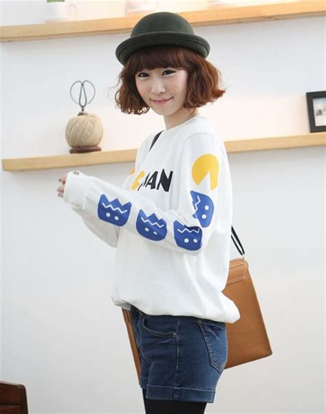 Sweater 2 Pacman kawaii clothing jersey pacman pac sweater wh154