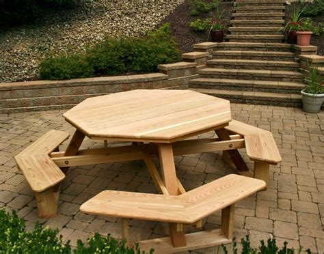 picnic table with separate benches plans pin by taylor fain on cool ideas pinterest