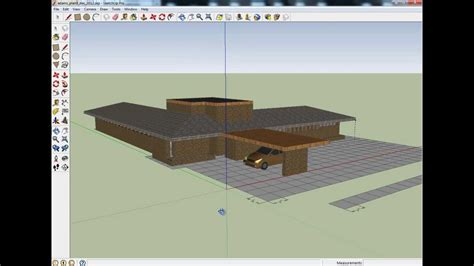 house design sketchup youtube contemporary usonian house plan partially completed in