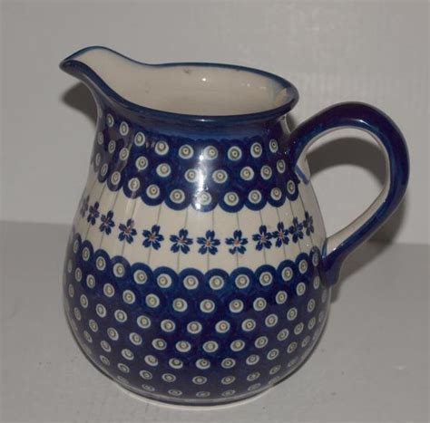 Handmade In Poland - 7 quot boleslawiec pottery milk pitcher poland 81a ebay