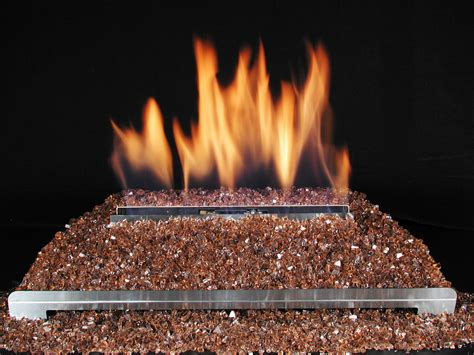 gas fireplace with glass rocks ventless glass gas fireplace with highly reflective crushed copper glass