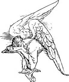 Grieving angel tattoo clip art at clker com vector clip art online