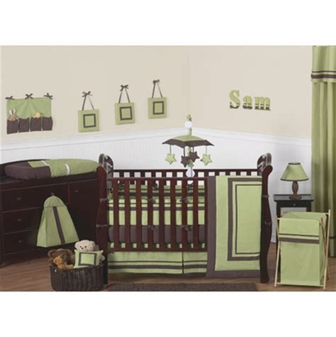 Green And Brown Crib Bedding Hotel Green And Brown 9pc Crib Bedding Set Townhouse Linens