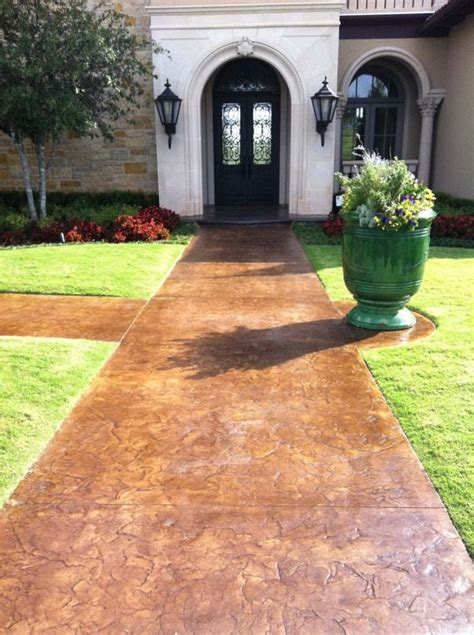 another stained concrete walkway for the home pinterest