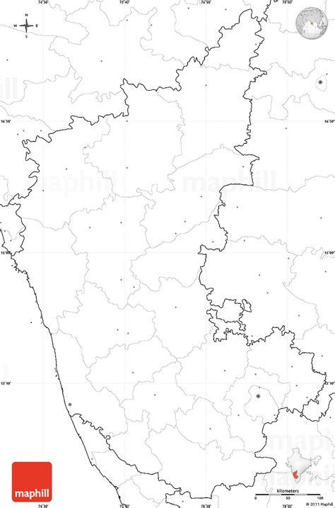 Karnataka Outline Map by Blank Simple Map Of Karnataka No Labels