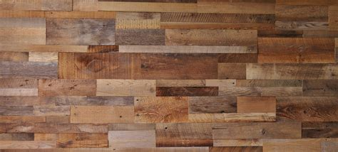 diy reclaimed barn wood accent wall brown natural mixed