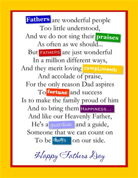 fathers day poems to my husband quotes and poems for s day cool images