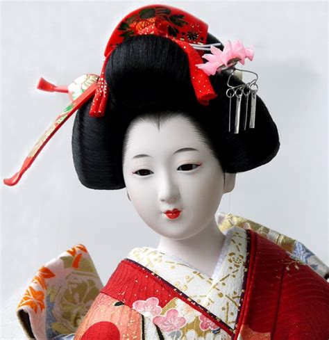 of japanese doll japanese kimono doll with golden fan 198o s japanese