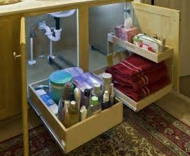 Bathroom Sink Organizer Ideas by Woodmaster Woodworks Inc Solving The Under The Sink
