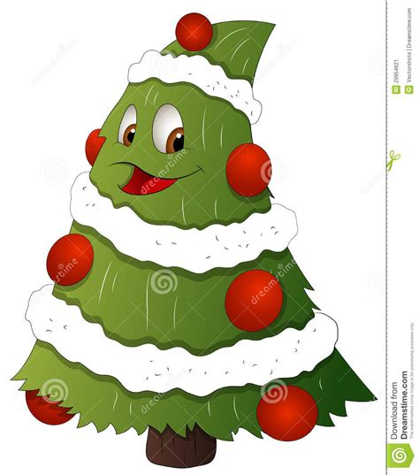 Lovely Christmas Card Ornament Ball #3: Drawing-art-cartoon-christmas-tree-character-vector-illustration-29954621.jpg