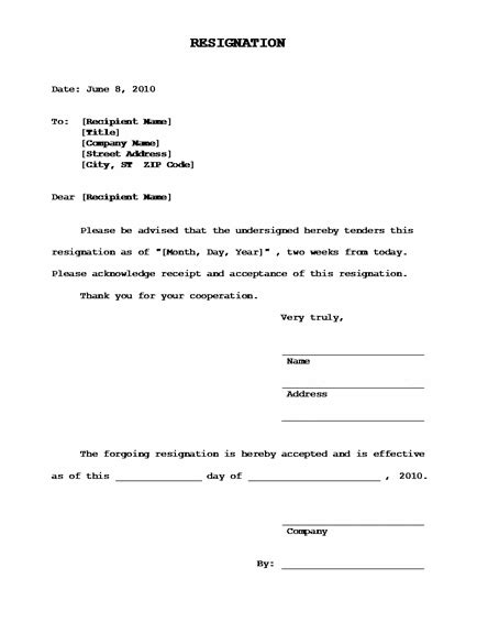 Acceptance Of Voluntary Resignation Letter Resignation Letter Format Best Sle Board Resignation Letter Template Acceptance Acknowledge