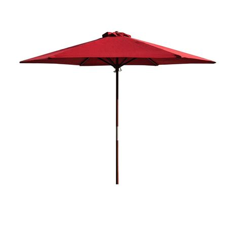 Market Patio Umbrellas Kontiki Shade Cooling Patio Market Umbrella 9 Ft Wooden Market Umbrella