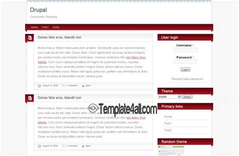 free brown pink news blog drupal theme template
