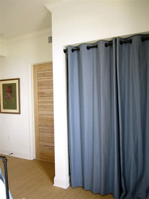 Curtains Instead Of Closet Doors Curtain Instead Of Closet Doors Home Design Ideas