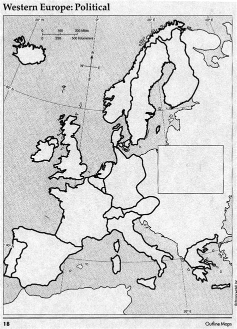 blank map of europe political west europe map quiz