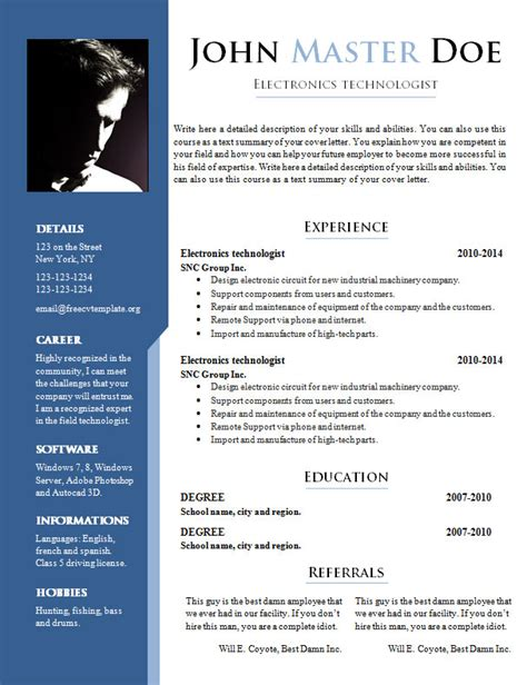 different resume templates best 25 free resume sles ideas on free resume