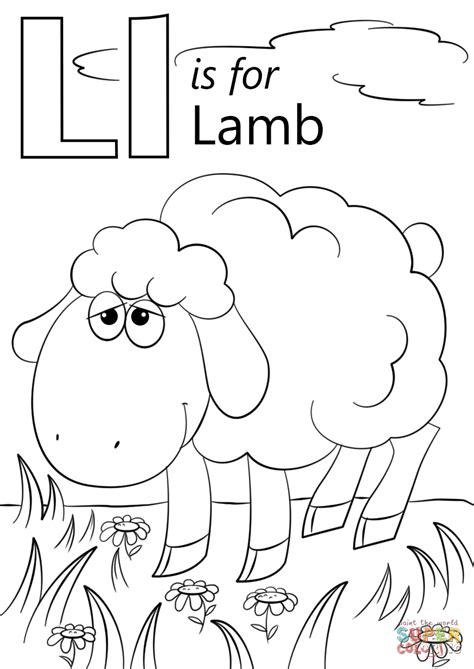l coloring page letter l is for coloring page free printable