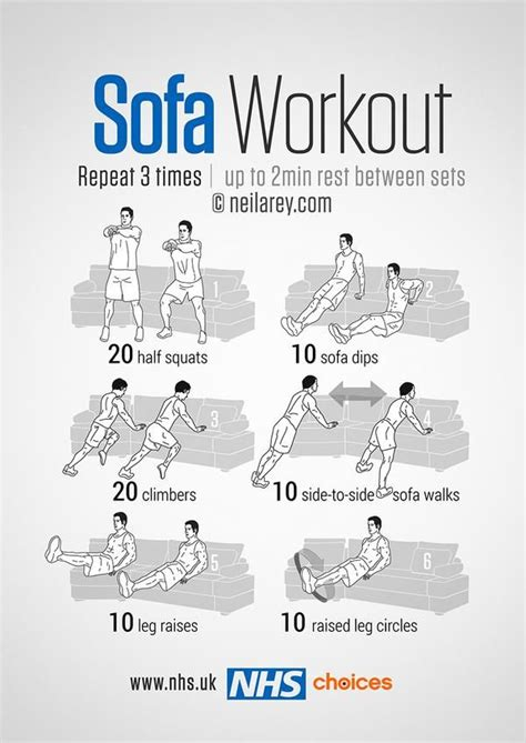 sofa exercises 194 best images about fitness on pinterest exercise