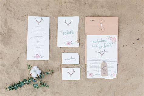Hochzeitseinladung Natur by Hochzeitspapeterie Hochzeitseinladung Boho Liebe Boho