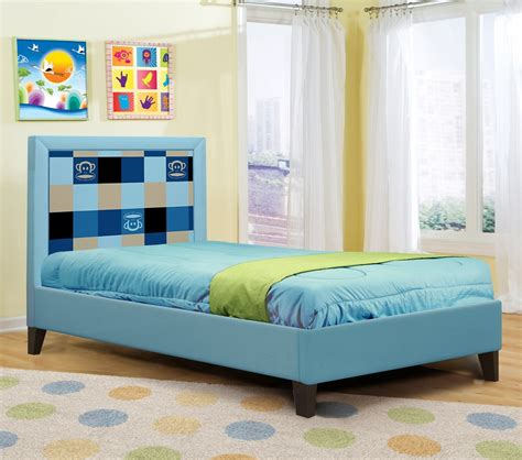 blue twin bed dreamfurniture com paul frank 174 plaid bed blue