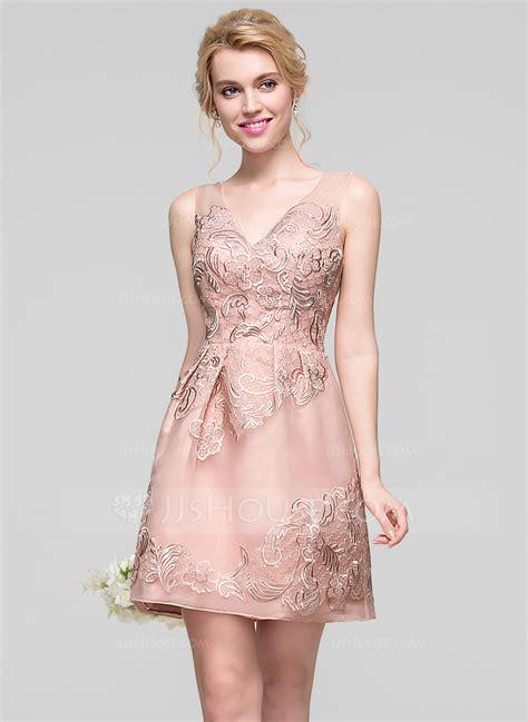 a linie v ausschnitt kurz mini chiffon brautjungfernkleid mit ruschen p454 a linie princess linie v ausschnitt kurz mini organza lace