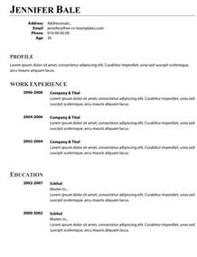 simple resume exles 2017 editor box free simple and basic cv templates in word land the job now