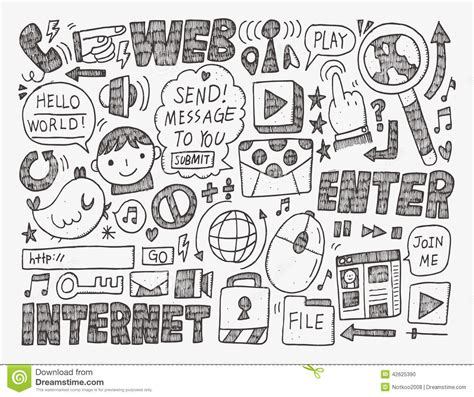 doodle bug website doodle web background stock vector image 42625390