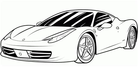Porshe Free Coloring Page ? Cars Coloring Pages