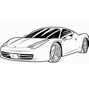 Porshe Free Coloring Page • Cars Pages