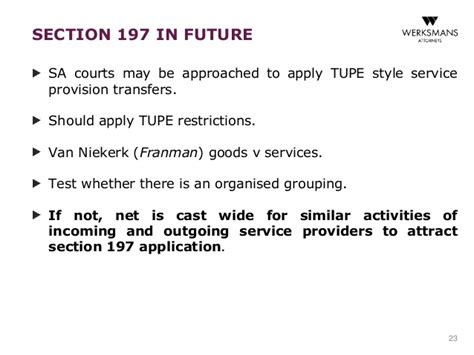 section 197 assets the future of section 197 in south africa bradley workman
