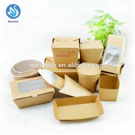 Food Pail Ukl Paper Box Rice Box Paper disposable paper food container kraft noodle box