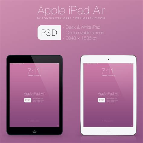 tablet template psd apple air mockup psd wellgraphic