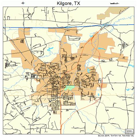 kilgore texas map kilgore texas map 4839124
