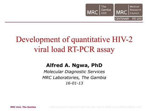 hiv 2 pcr test ppt development of quantitative hiv 2 viral load rt pcr
