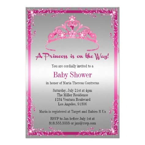 When Do You A Baby Shower by Free Printable Princess Baby Shower Invitations