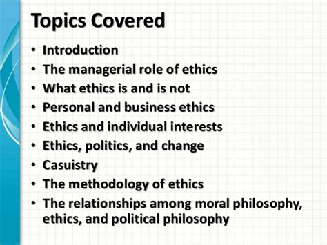 Business Laws And Ethics Mba Notes by Mba1034 Cg Ethics Week 12 Ethics 072013
