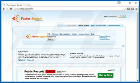 Fast Search How To Get Rid Of Fast Search Tk Redirect Virus Removal