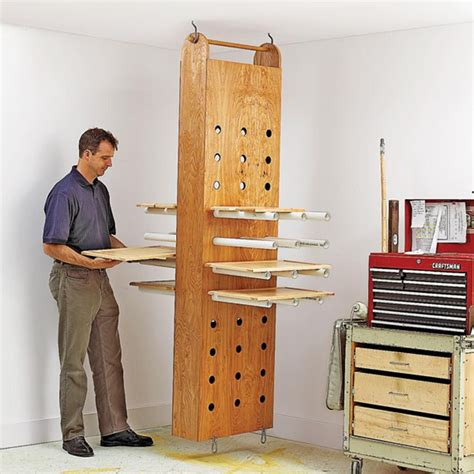 shop storage cabinet plans drop drying rack woodworking plan workshop jigs