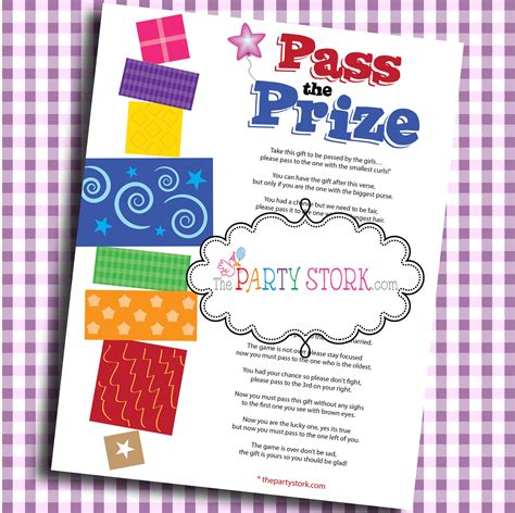 Pass The Prize Baby Shower by Pass The Prize Baby Shower Baby Or Bridal Shower