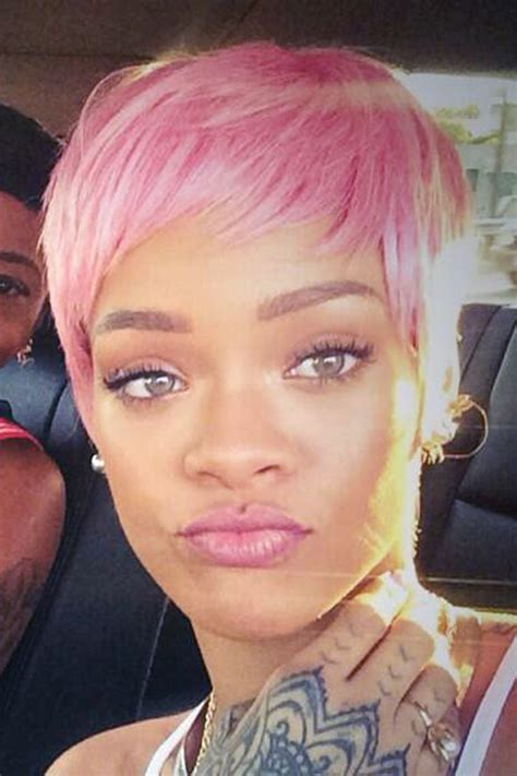 pinks hair cut 2014 rihanna straight pink pixie cut wig hairstyle steal her