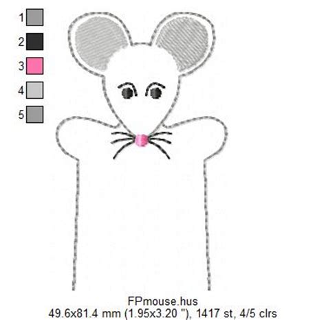 finger mouse template free embroidery designs embroidery designs